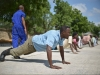 Recruits in Mogadishu's new Fire Department are given training by members of the AMISOM forces.