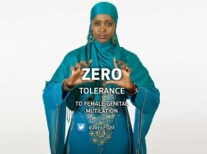Anti FGM poster featuring activist Ifrah Ahmed