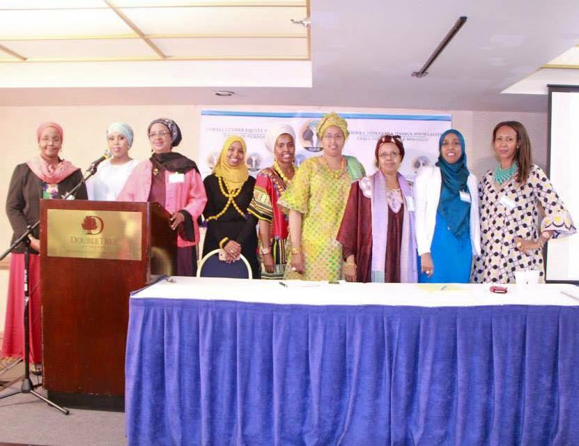 Caption: The Founders of the Somali Gender Equity Movement launch the initiative in Minneapolis, Minnesota